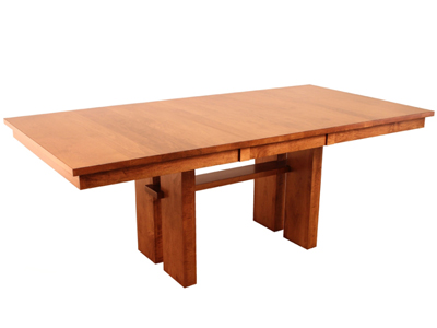 solid wood dining table made in Canada